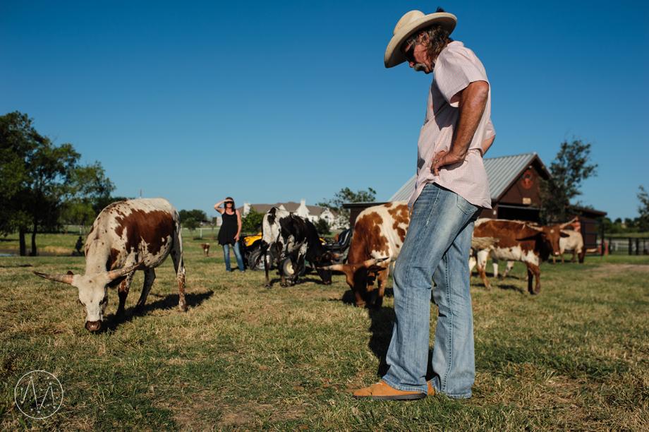 Texas Longhorn ranch family documentary in Celina TX (20)